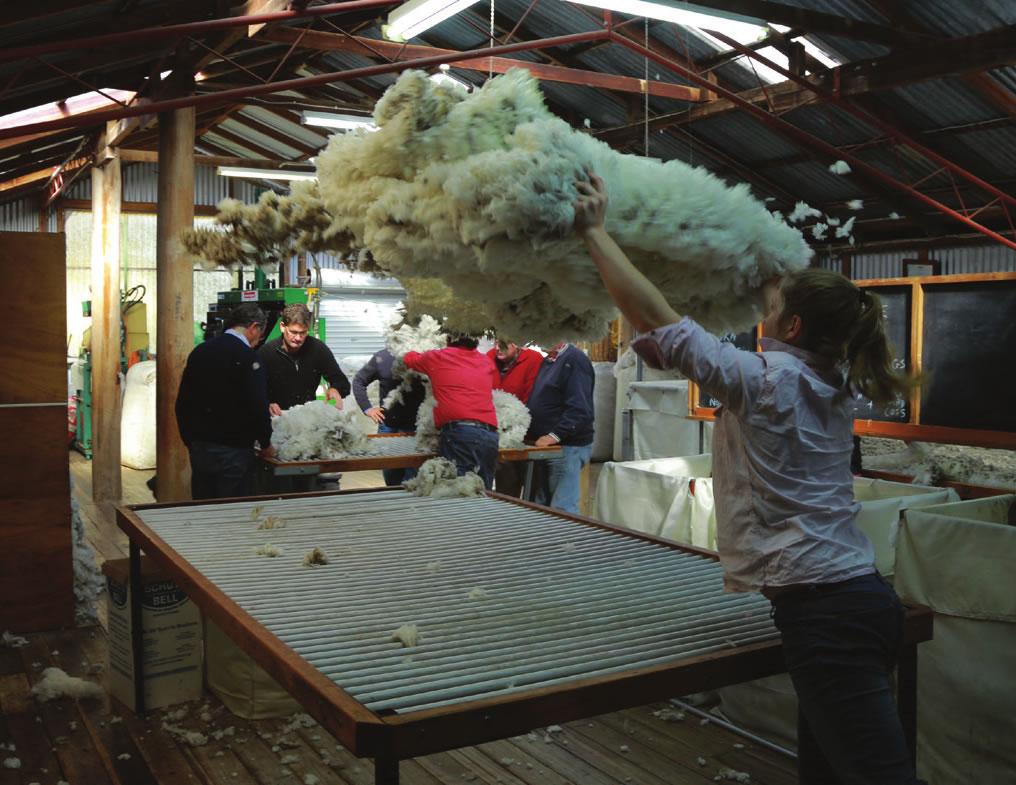 Thrown fleece